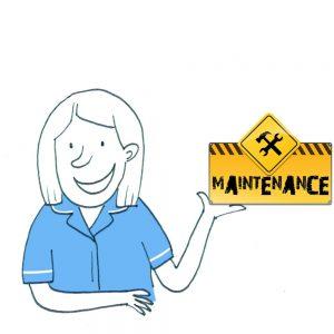 Website site maintenance