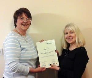 Jill completes her Diploma in Health & Social Care